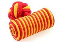 Seidenknoten gelb-rot