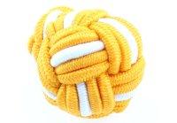 Seidenknoten gelb-weiß