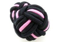 Seidenknoten rosa-schwarz
