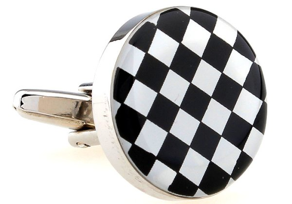 runde Schach-Manschettenknöpfe