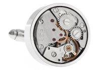 exklusive silberne Uhrwerk Manschettenknöpfe