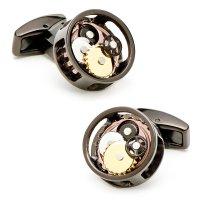 runde Uhrwerk Manschettenknöpfe