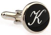 """Buchstaben Manschettenknopf Vintage """"K"""""""