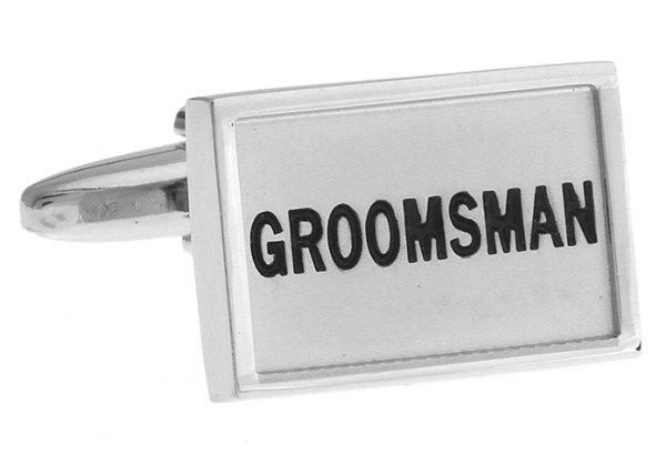 """Hochzeit Manschettenknöpfe """"Grooms Man - Trauzeugen"""""""