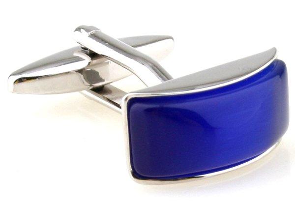 gewölbte Manschettenknöpfe blau