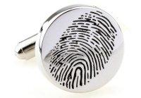 Fingerabdruck Manschettenknöpfe